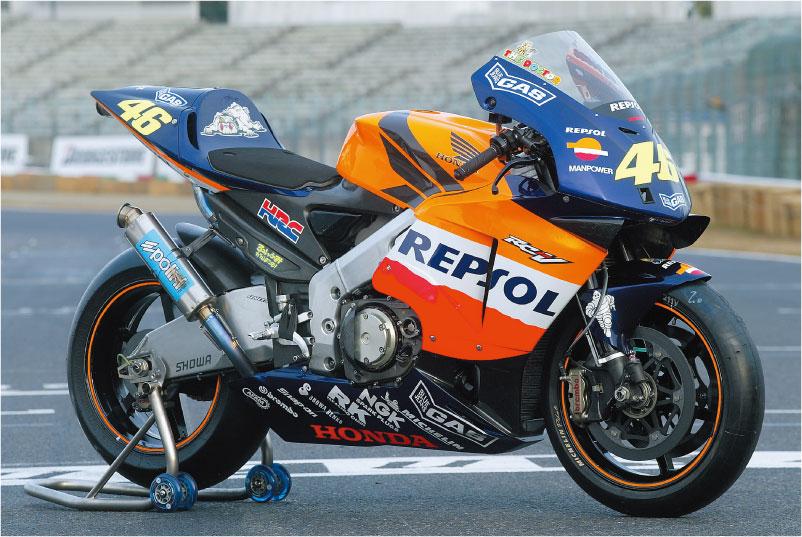 画像: 2002年型ホンダRC211V(®︎ Racing オートバイ MotoGP GRAPHICS 2016@モーターマガジン社)。 lrnc.cc