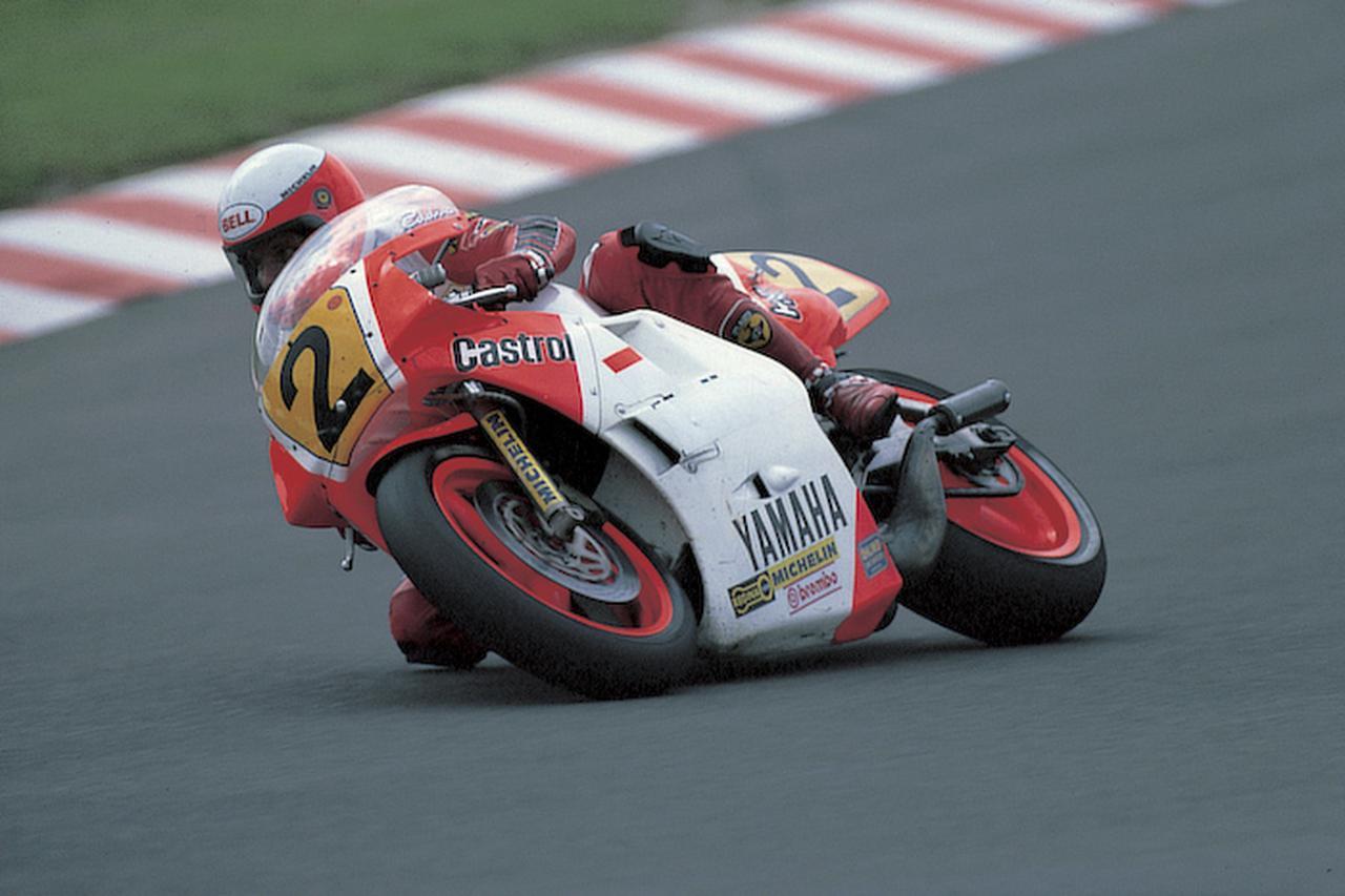 画像: 1986年、ヤマハYZR500(0W81)でタイトルを獲得したE.ローソン。 global.yamaha-motor.com