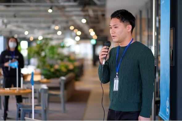 画像: G's ACADEMY UNIT_SAPPOROの受講生、竹内信二さん「現在サツドラホールディングス入社2年目で、店舗業務にあたっています。プログミングは全くの未経験ですが、サツドラの現場からの課題解決に加えて北海道に貢献したいという想いが強くあり、想いをプロダクトにつなげたいと思います」