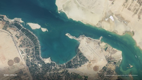 画像: AxelGlobeを構成する衛星GRUS-1B(3月打上げ)が軌道上から撮影した最初の画像