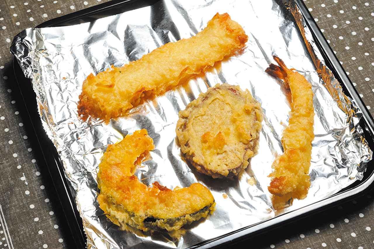 画像: 天ぷらはオートキー一つで加熱でき、約8分でザクッとした歯触りがよみがえる。