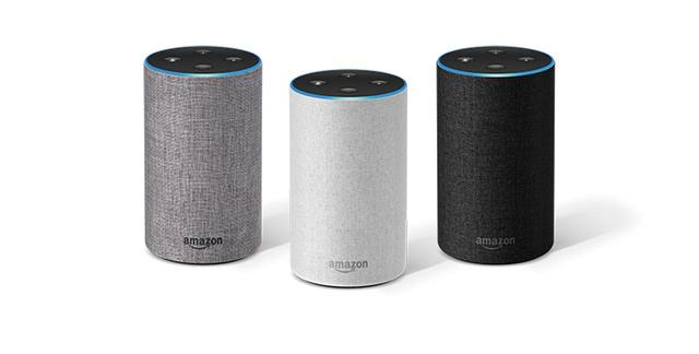 画像: Amazonのスマートスピーカー「Amazon Echo」。こちらも、よりコンパクトな「Amazon Echo Dot」がラインアップされている。
