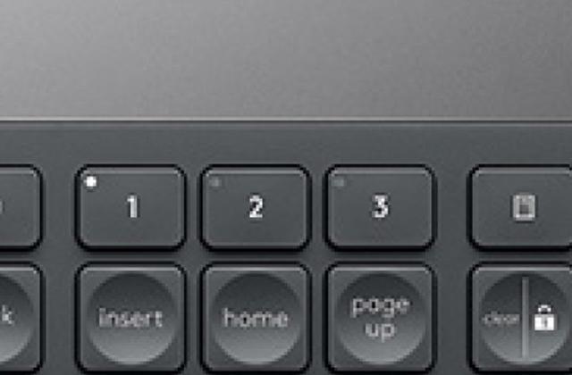 画像: 「1」「2」「3」のボタンにより、Macも含め3台までのパソコンをワンタッチで切り替えて使うことができる。