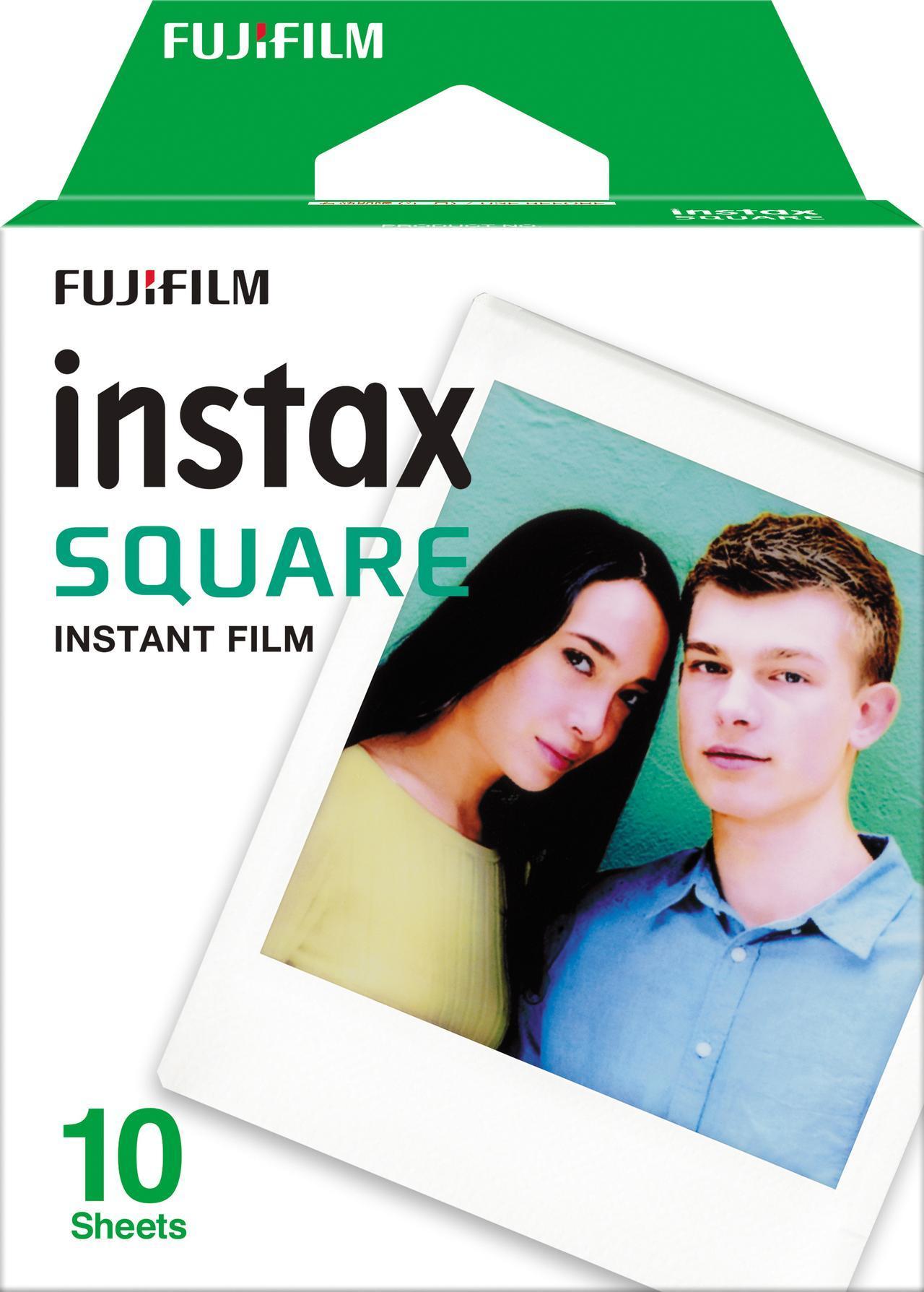 画像: 専用のインスタントフィルムのサイズは86ミリ×72ミリ、画面サイズは62ミリ×62ミリ。プリント画素数は800ドット×800ドット。10枚入りで、実売価格例1350円。