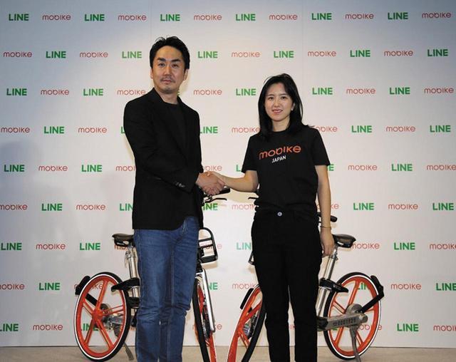 画像: LINEは、中国に本社を持つモバイク・ジャパンとの提携を発表。モバイクは、すでに世界200都市でサービスを展開している世界最大の自転車シェアサービス企業だ。