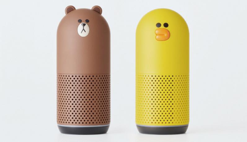 画像: ブラウン(左)とサリー(右)のデザイン。WAVEではできないLINE通話が可能。