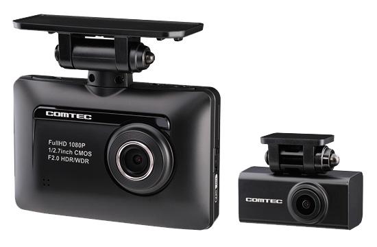 画像: フロントウインドー用のカメラに加え、リア用カメラがセットになった機種もある(写真は、コムテック ZDR-015。実売価格例:2万7800円。ただし、取り付けの難易度は上がる。