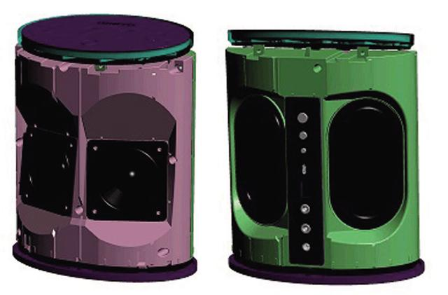 画像: 本体の前面には2.5インチ(64ミリ)のフルレンジウーハーを、背面にはパッシブラジエーターを装備(いずれも二つずつ)し、良質で広がりのある音質を実現。