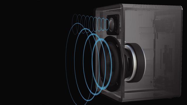 画像: 従来スピーカーの1.5倍の振幅量、力強い駆動力のマグネットを持つのウーハーと、高品質のソフトドームツイーターで、低域から高域までバランスの取れたサウンドを鳴らす。