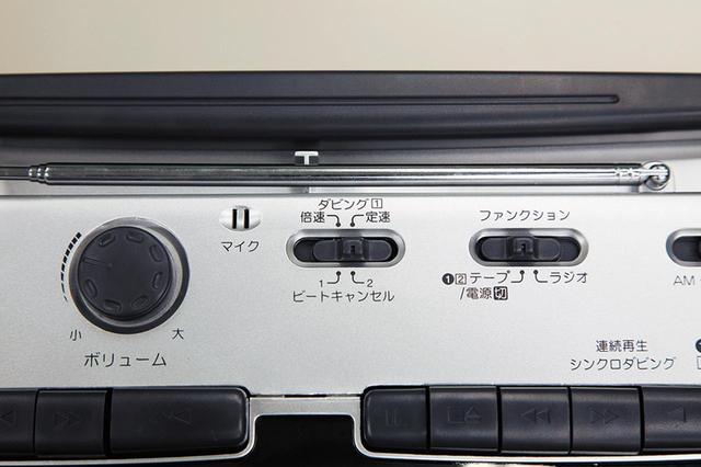 画像: カセットのダビングは倍速と等速をスイッチで切り替えて行える。音質重視なら等速がおすすめ。
