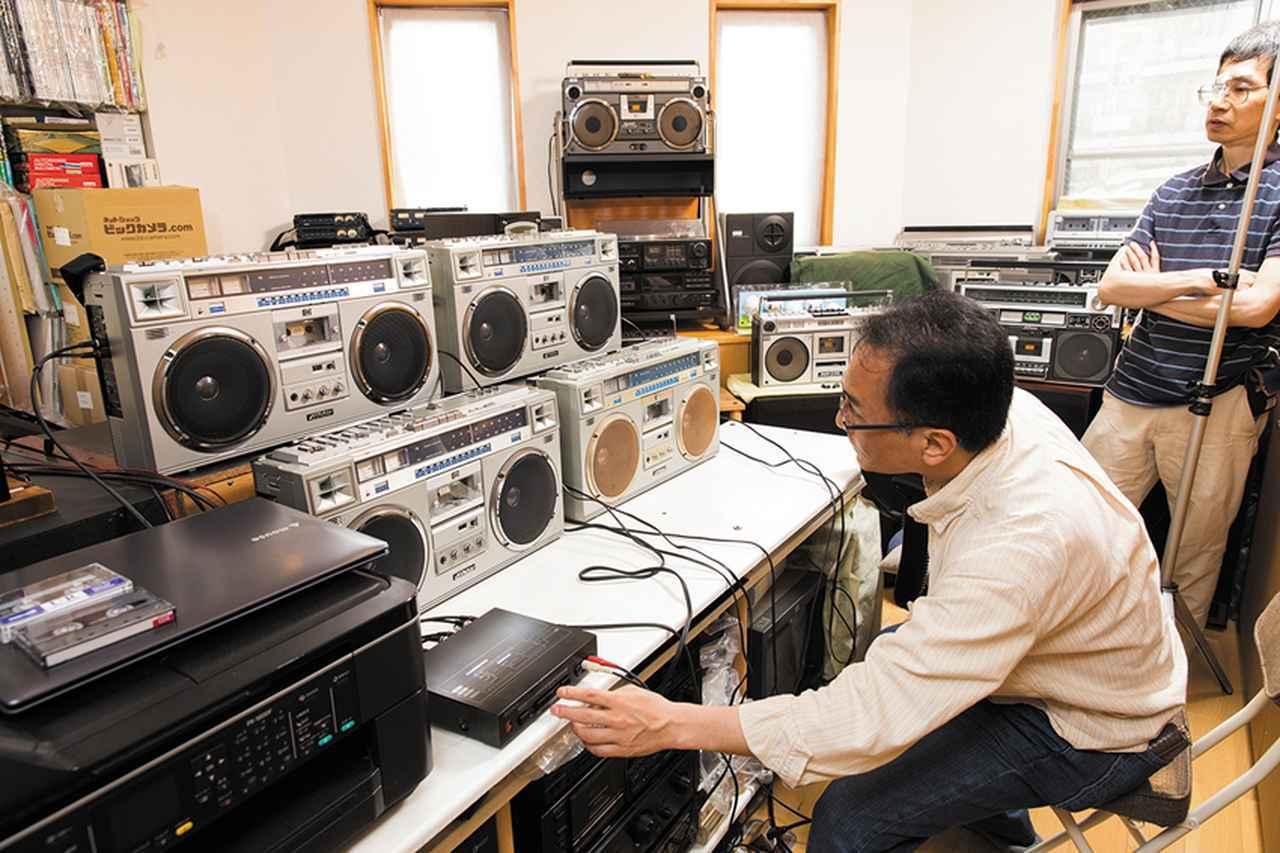画像: RC-M70GXを含む4台のRC-M70を、同じ音源を使って比較試聴。同じモデルでありながらも、その音にははっきりと違いがあるとわかった。