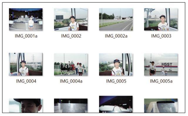 画像: サブフォルダー内は写真のExifから撮影日が読み込まれ、自動的に並び替えられる。