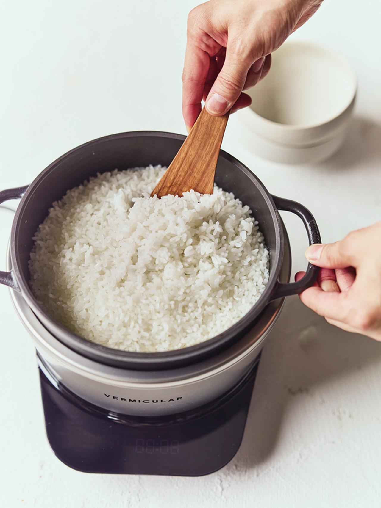 画像: ホーロー鍋への熱の伝わり方をコントロールし、かまどのように立体的に加熱するテクノロジーで、米のうまみをしっかりと引き出す。