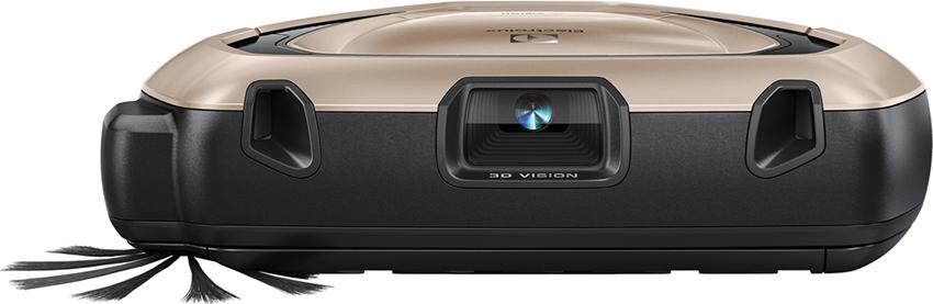 画像: カメラと2方向のレーザーを本体の前面に配置している。