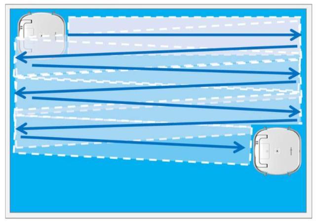 画像: 窓を左右ジグザグに進みながら、ムラなくきれいにする。
