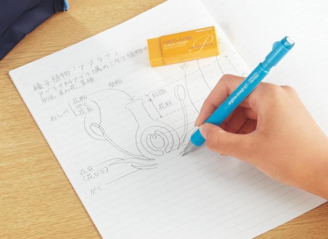 画像: 滑らかな書き味で、イラストやスケッチなども描きやすい。