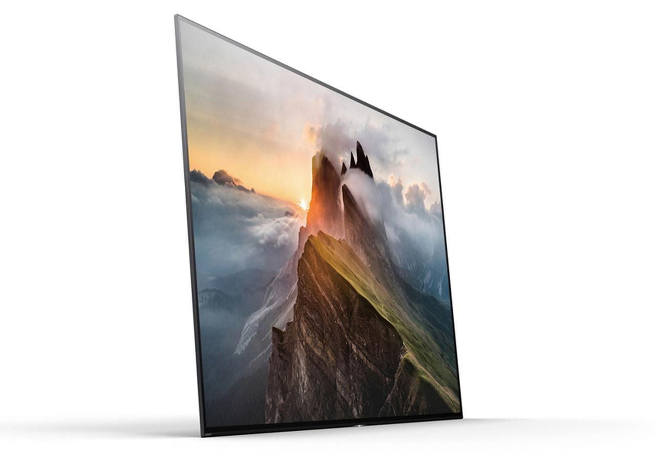 画像: ソニーの有機ELテレビ、KJ-65A1(実売価格例:64万5590円)。高画質でも話題だが、本体が極めて薄く、デザイン性の高さも注目。