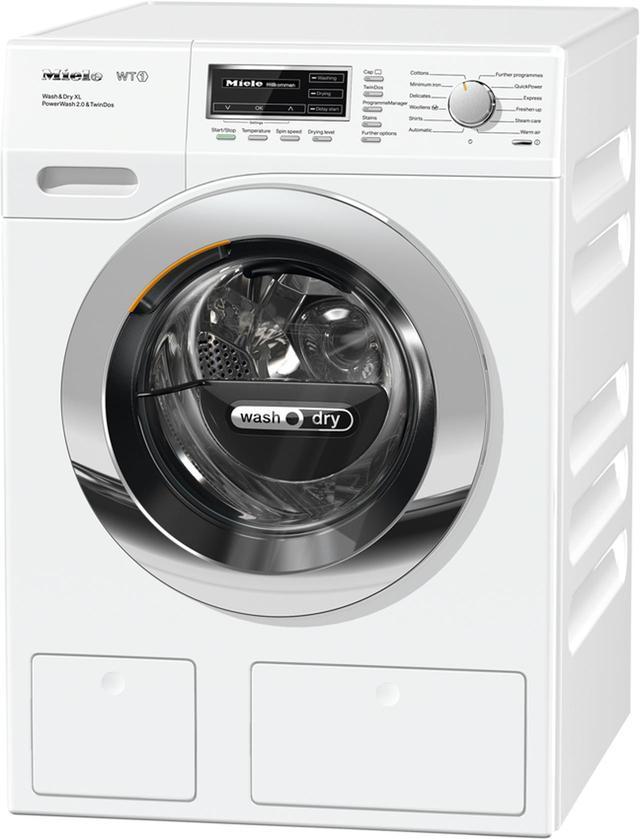 画像: 衣類の量に合わせて洗剤や漂白剤を自動投入するドラム式洗濯乾燥機。洗濯プログラムを豊富に用意し、素材や汚れに応じて洗い上げる。ビルトイン対応のWTH 120 WPMも用意。