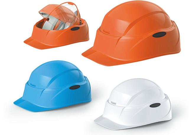 画像: 収納時はA4サイズになり、机の引き出しや本棚にしまえる。オレンジ、ブルー、ホワイトの3色がある。