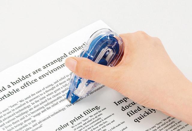 画像: はがれにくく、削れにくい修正テープ