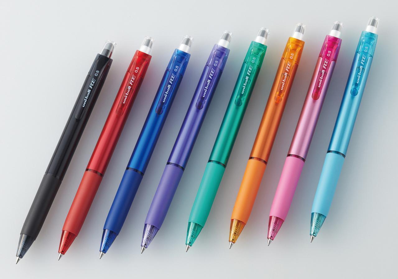 画像: ノック部でゴシゴシ消せるボールペン