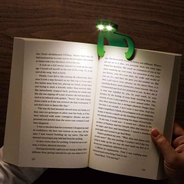 画像: 長寿命かつ省電力で目に優しい人型LEDブックライト