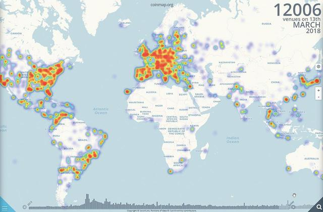 画像: 地図で場所を調べたり、店名検索で利用可能店舗を探したりできる。世界地図を見るとわかるが、欧米には対応店舗が比較的多い。
