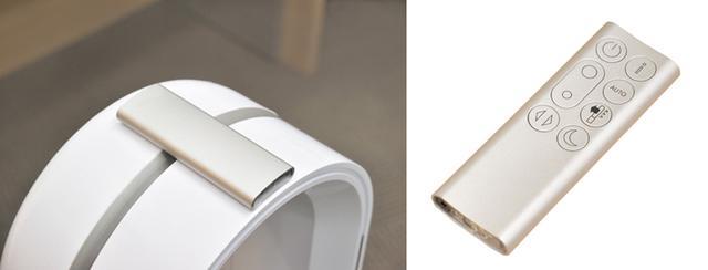 画像: ボタン数を絞ったシンプルなリモコン。マグネットで上部に装着。