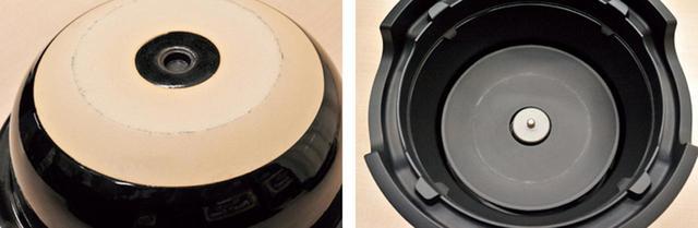 画像: 熱源はシーズヒーター。土鍋の裏にある小型センサーで熱を感知して、温度をコントロール。