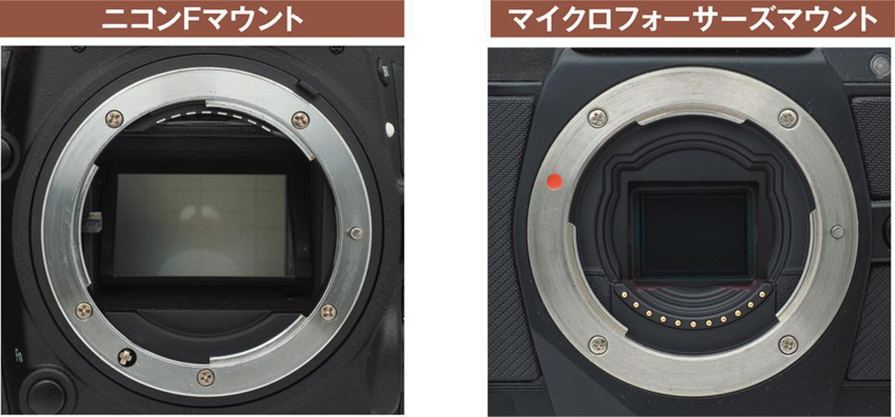 画像: レンズマウントは一見すると似ているが、直径の長さやマウントから撮像センサーまでの距離など、各メーカーで微妙に異なっており、互換性はない。