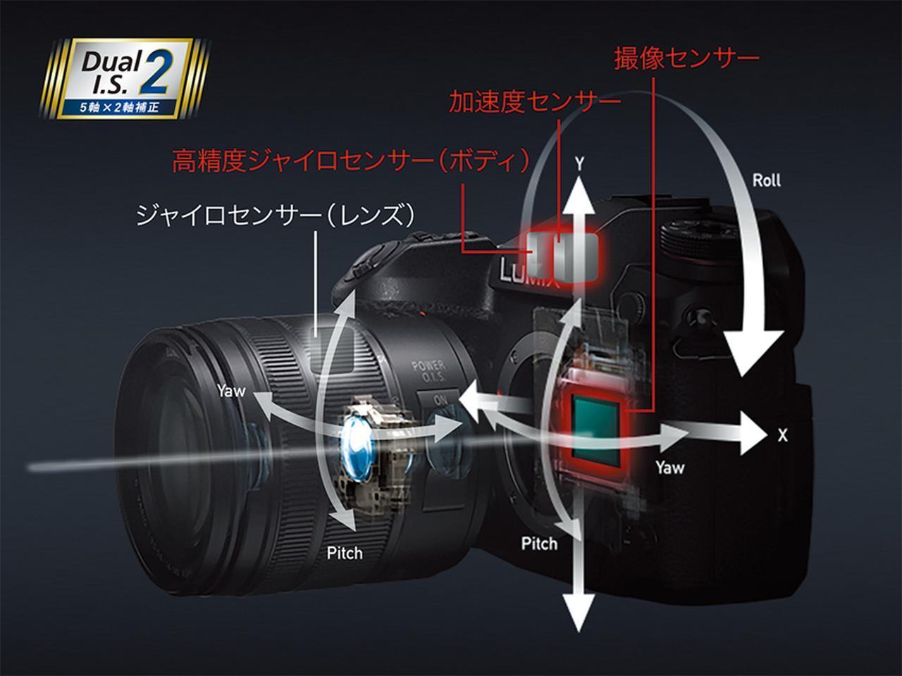画像: ボディ内とレンズ内の手ブレ補正をシンクロさせて、より高い効果を実現したのが、ハイブリッドタイプ。パナソニックのDC-G9は、望遠域まで6.5段の効果をうたう。
