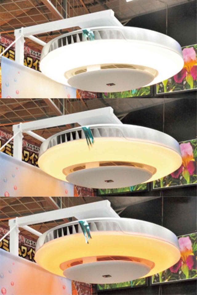 画像: 寒色〜暖色10段階のほか、2種類のさくら色を搭載。さくら色LEDは、癒し効果が実証済み。