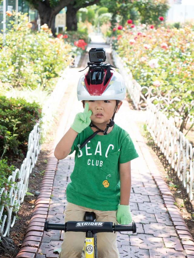 画像: 豊富なマウントアクセサリーが用意されており、ヘルメットに取り付ければ、自転車走行時の様子も記録できる。