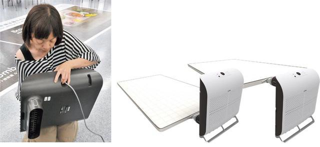 画像: フロントパネルは着脱可能だから、上下を逆さにして吹き出し口の位置変えをすれば、床に敷いた布団にも対応。