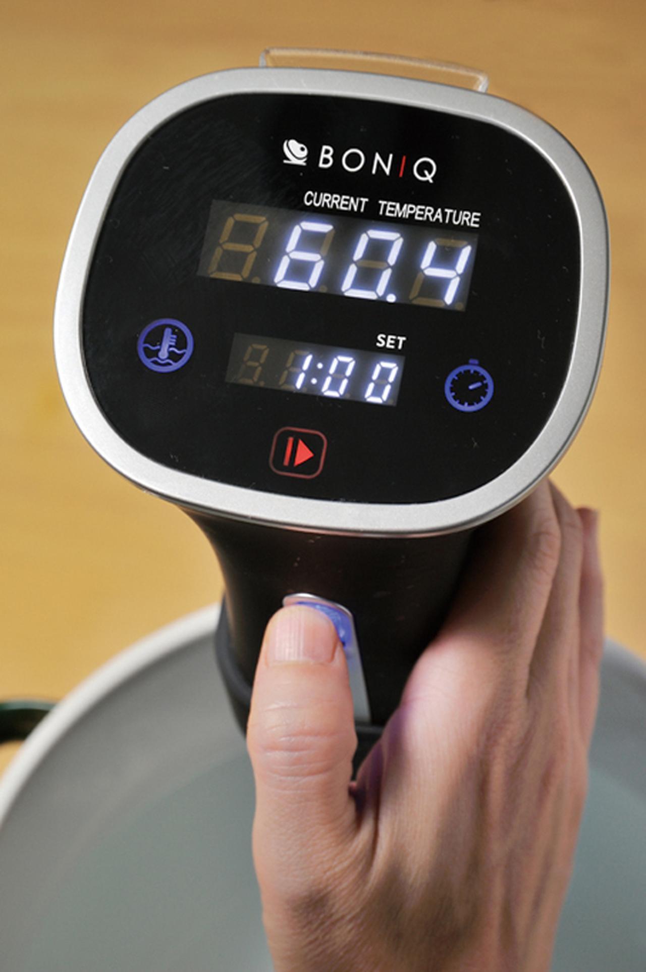 画像: 時間を設定したら、スタートボタンで加熱開始。