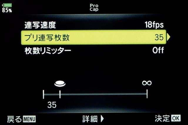 画像: プロキャプチャーモードで18コマ/秒の場合、シャッターを切る約2秒前の瞬間も残せる。チャンスを撮り逃がさないのがこのカメラの売りだ。