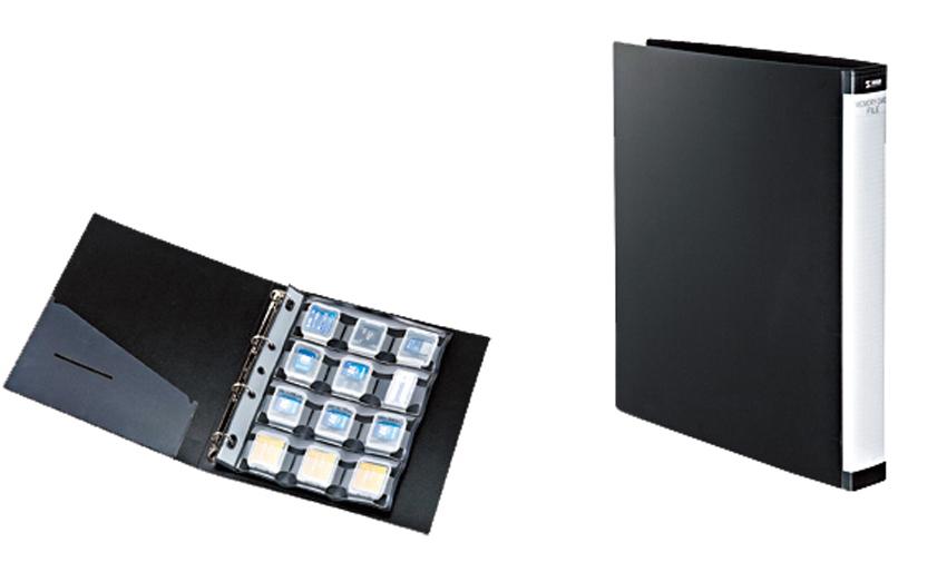 画像: SDなどのメモリーカードをケースに入れたまま収納できるファイル。リフィルを買い足して保管数を増やすことが可能。