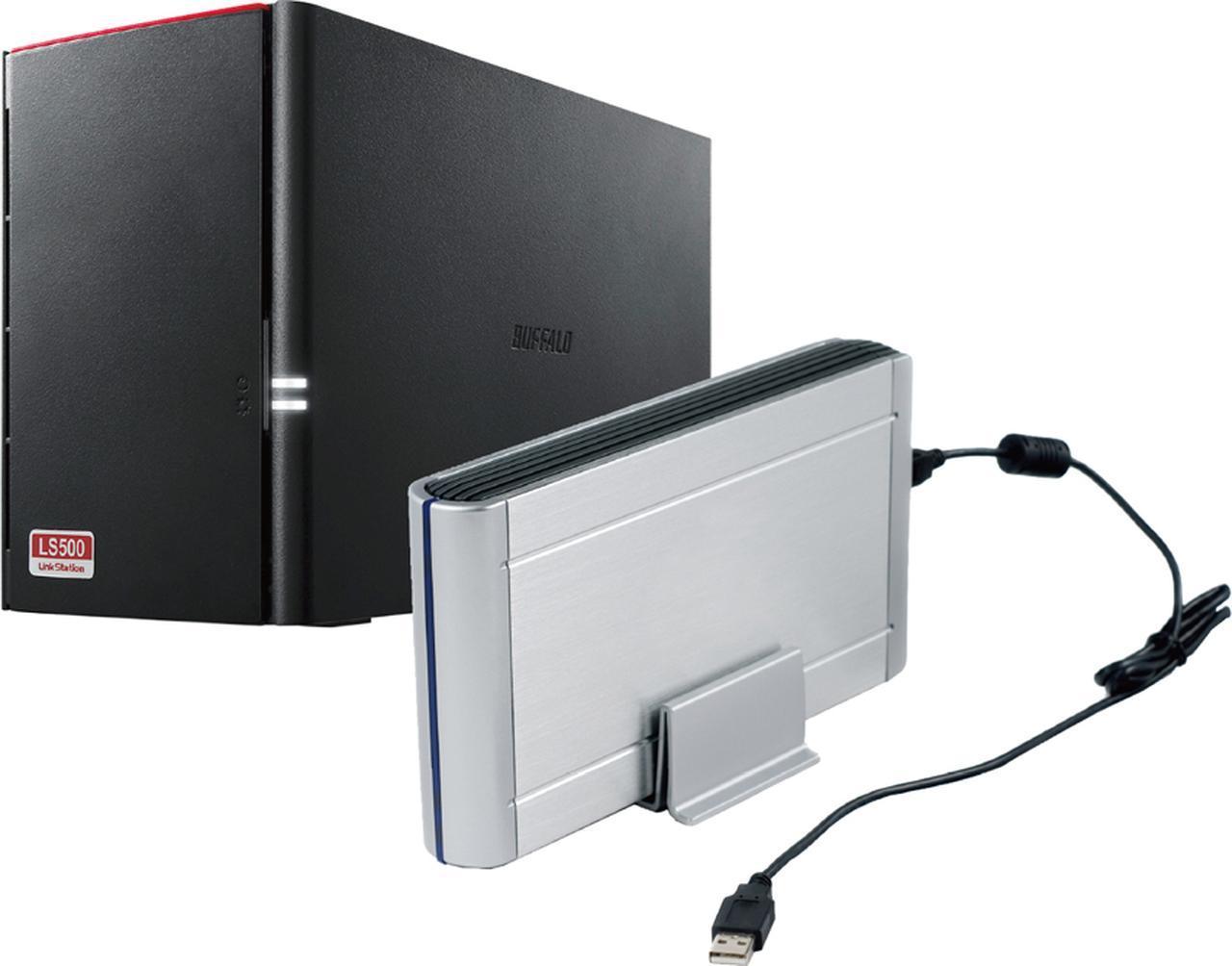 画像: USB接続でも、NASでも、複数のドライブを装備して、RAIDなど分散記録するタイプを使うことが、保存性の高い方法となる。