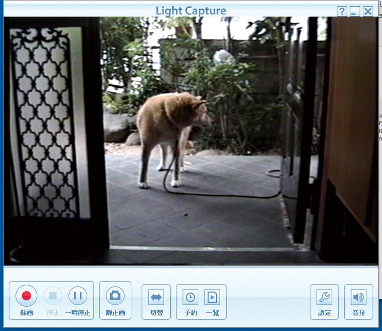 画像: ビデオテープの取り込みたい映像を再生し、録画を開始する。