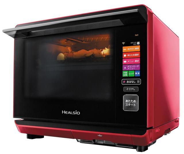 画像: 300℃以上に加熱した過熱水蒸気で、余分な油や塩分を落としたヘルシー調理が可能。上段で唐揚げ、下段で蒸し野菜など、別々の調理法を同時に行う「2段調理」や、食材の種類や温度、分量を問わず、一度に自動調理ができる「まかせて調理」など、便利機能を搭載。