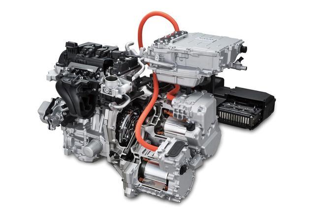 画像: ノートe-powerに搭載されるパワートレーン。エンジンを発電専用に使うことで、燃費向上を図るとともに、モーター走行のメリットも両立。