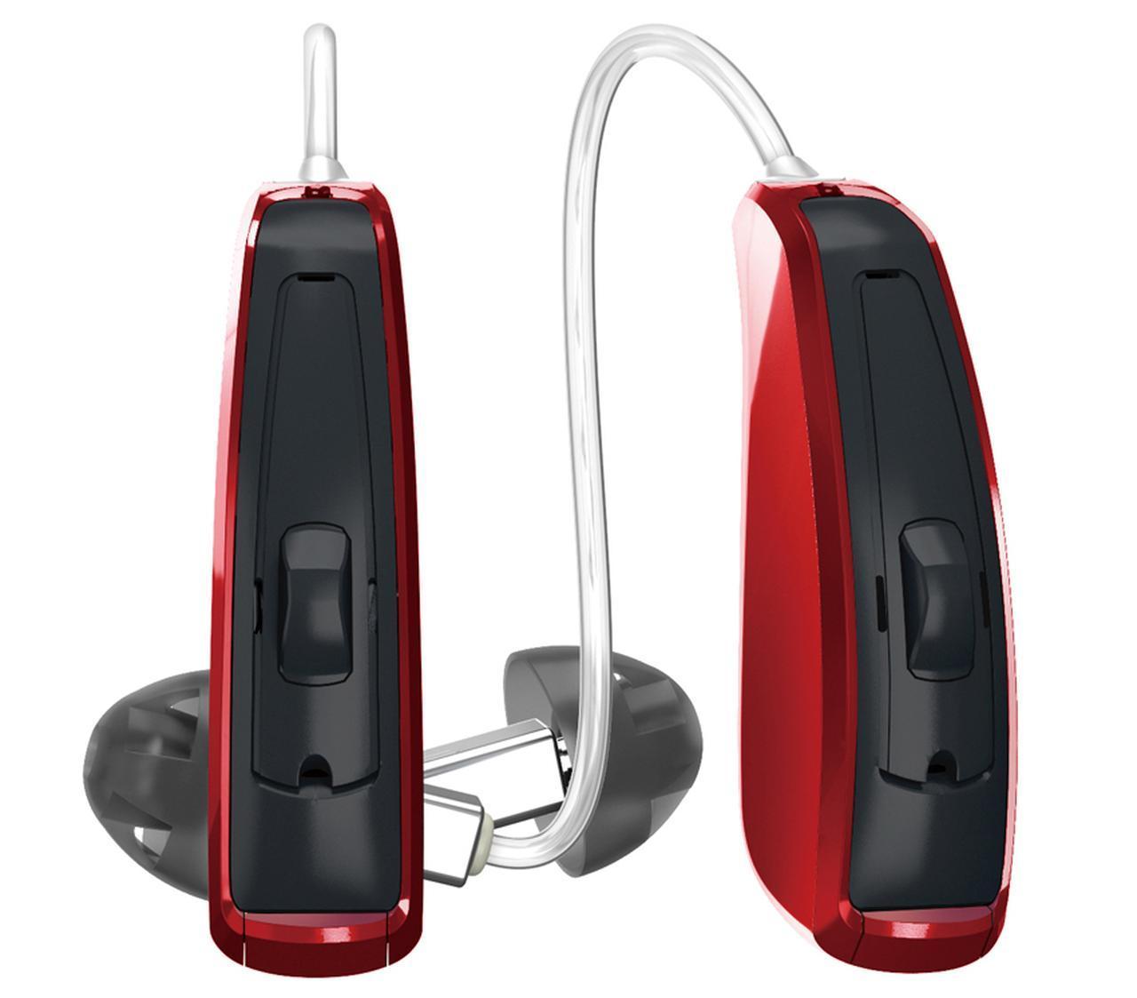 画像: 耳かけ型 適応難聴度:軽・中・高・重 電池寿命:約16時間(充電式) スマホ連係:専用アプリ 音質調整メモリー:全自動で調整可能