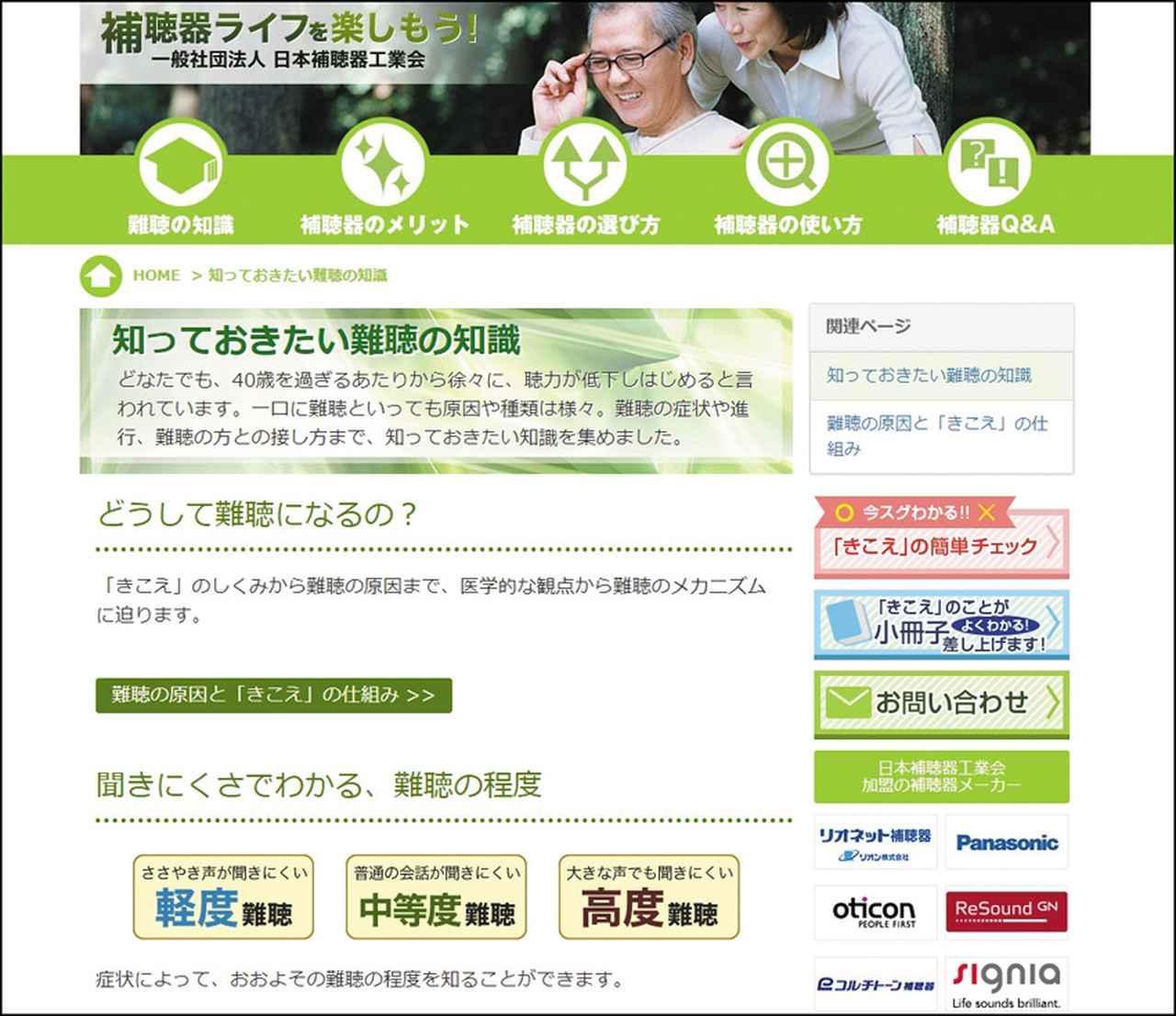 画像: 難聴は程度により「軽度」「中等度」「高度」などに分かれる。詳しくは日本補聴器工業会のサイト(※)を参照のこと。 ※「知っておきたい難聴の知識」⇒ http://www.hochouki.com/knowledge/