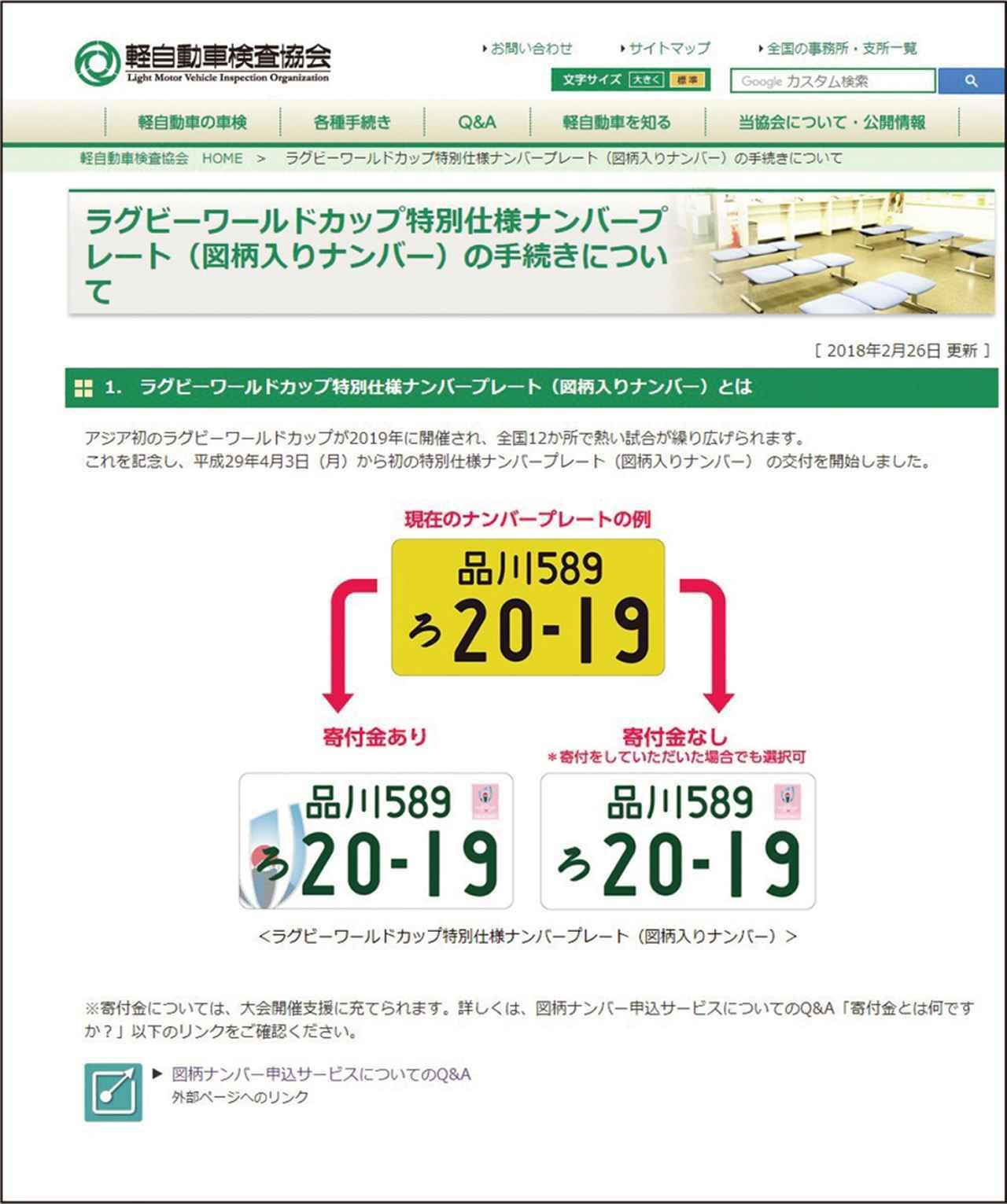 画像: 軽自動車検査協会のサイト(URLは欄外)では、図柄入りナンバーの手続きについて詳しく紹介されている。 ※「軽自動車検査協会」→ https://www.keikenkyo.or.jp/procedures/procedures_m_000361.html