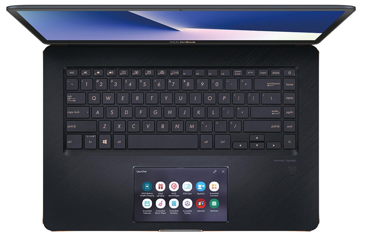 画像: ScreenPadには、広々とした5.5型のフルHD液晶を採用。タッチ感度も良好で、アプリなどの操作もストレスなく行うことができる。
