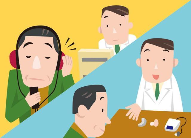 画像: 専門の販売店で聴力の測定を行い、補聴器の選択をする。使い方などについても細かく相談しよう。