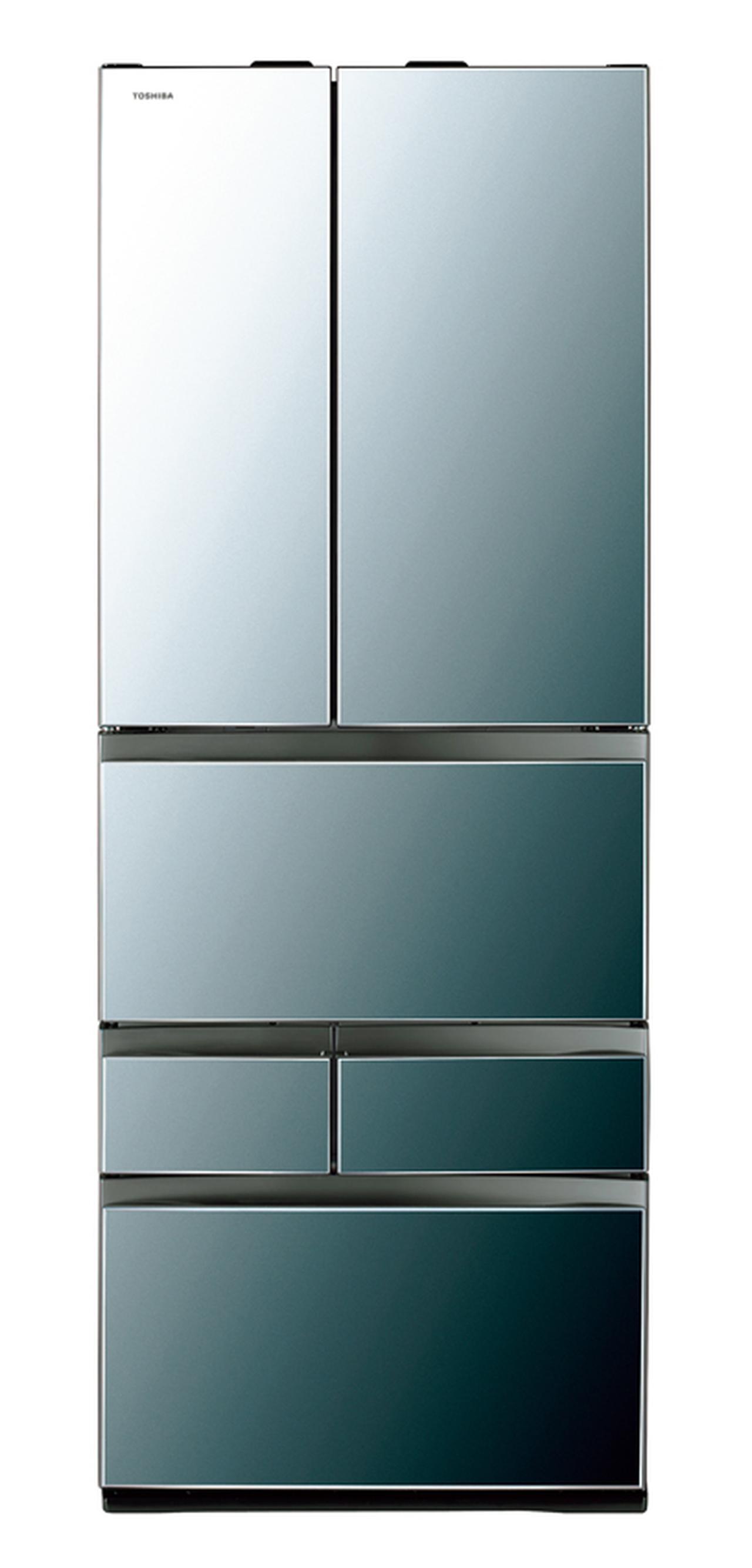 画像1: 東芝の最新冷蔵庫は無線LAN搭載! 外出先からスマホでコントール可能