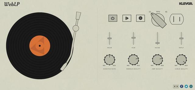 画像: LPレコードのシミュレーター。回転数や電圧などを選択し、こすり音や針、アンプ、ケーブルの品質を調節できる。ある程度パワーのあるパソコンが必要。