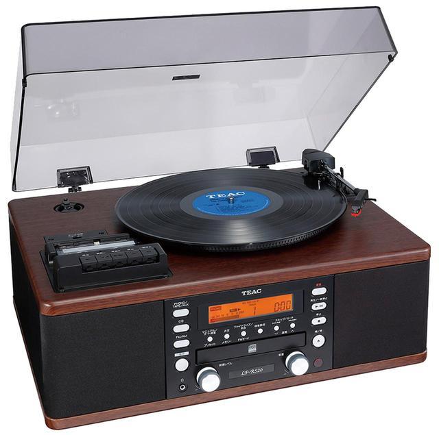 画像: レコードプレーヤー、カセットプレーヤー、ラジオ、CDドライブを搭載し、アンプ・スピーカーを内蔵したアナログ・デジタル・オールインワン機。CDドライブはCD-R/RWへの録音に対応しており、本機単体でレコードやカセットをCD-Rにダビングできる。 ●出力/3.5W+3.5W●カートリッジ/セラミックステレオタイプ(専用)●レコード針/STL-103(サファイア)●使用テープ/C-90以下のカセットテープ●再生可能ディスク/CD-DA、CD-R、CD-RW●サイズ/幅470㎜×高さ230㎜×奥行き390㎜●重量/約11㎏