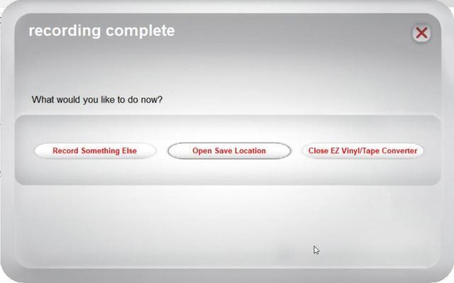 画像: 録音が終了したら「Open Save Location」をクリックする。